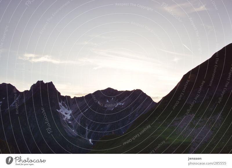 Alpenhimmel Ferien & Urlaub & Reisen Tourismus Ausflug Freiheit Sommer Sommerurlaub Berge u. Gebirge wandern Umwelt Natur Landschaft Himmel Wolken Gipfel
