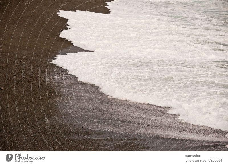 schäumend Natur Ferien & Urlaub & Reisen Wasser Meer Strand kalt Küste Schwimmen & Baden natürlich Wellen nass Abenteuer Flüssigkeit Am Rand Wasseroberfläche Gischt