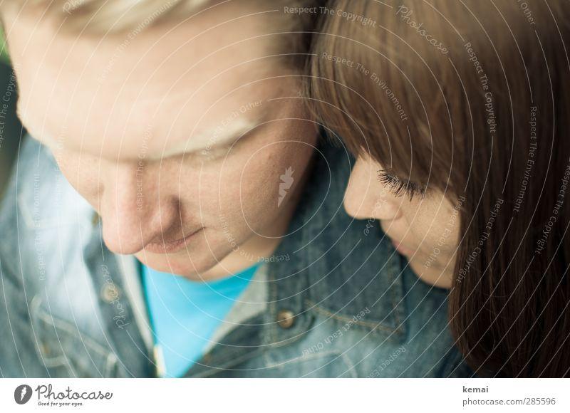 Erinnert Mensch Jugendliche schön Erwachsene Gesicht Liebe Junge Frau Leben feminin Gefühle Haare & Frisuren Junger Mann Kopf hell 18-30 Jahre Paar