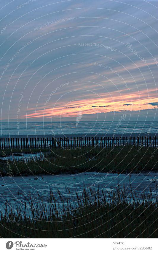 Stille an der Nordsee Wattenmeer Sehnsucht nordisch maritim Meer Nordseeküste nordische Romantik Hochwasser Fernweh Ebbe Gezeiten Meeresstimmung Abendruhe Sinn