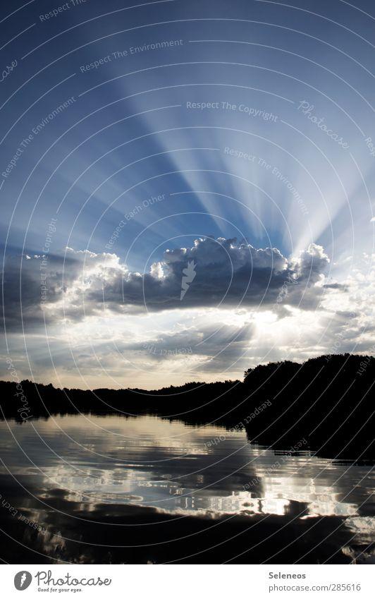 Guten Morgen Ferien & Urlaub & Reisen Wellen Umwelt Natur Wasser Himmel Wolken Horizont Schönes Wetter Küste Seeufer Insel Bach nass natürlich Farbfoto