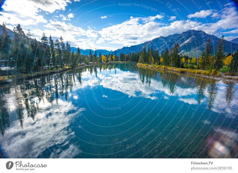 indian summer kanada Natur Wasser Wolken Sommer Baum Berge u. Gebirge Seeufer Kanada Abenteuer Reisen Kananaskis Counntry Rocky Mountains Farbfoto Außenaufnahme