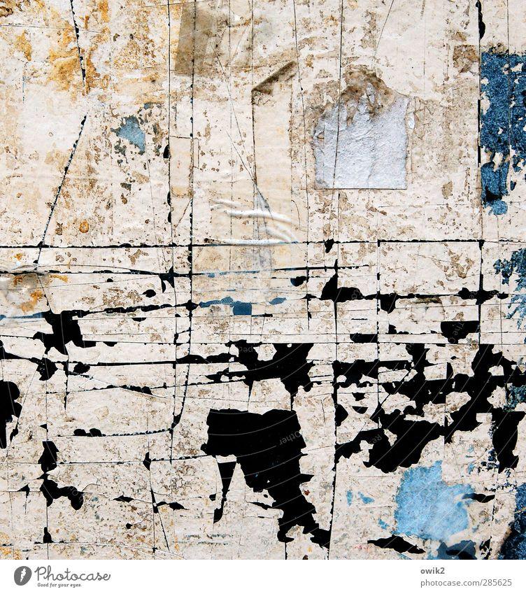 Kataster blau alt weiß Farbe schwarz Linie Kunst Zufriedenheit Ordnung Design verrückt ästhetisch Papier Netzwerk einzigartig Kultur