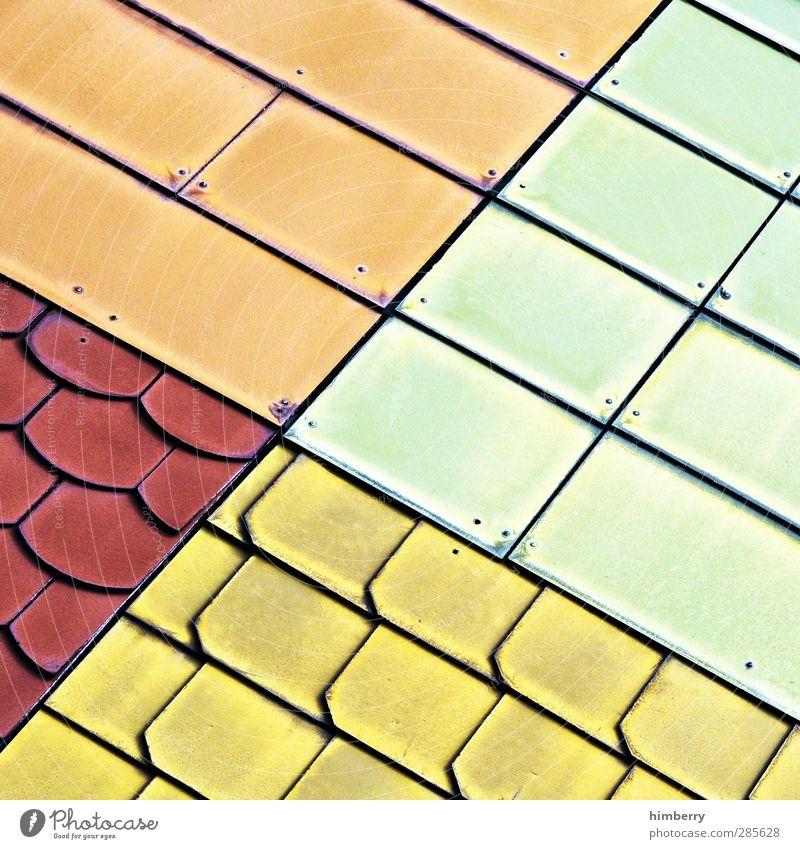 patchwork grün Stadt Haus gelb Business Kunst braun außergewöhnlich orange Fassade dreckig Design Dach Baustelle einzigartig Idee