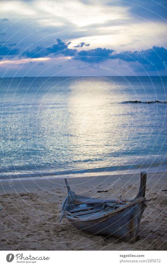 Thailand - Krabi - Ko Lanta Natur Ferien & Urlaub & Reisen Wasser Meer Strand Landschaft Sand Wasserfahrzeug Reisefotografie Tourismus Idylle Bucht Postkarte