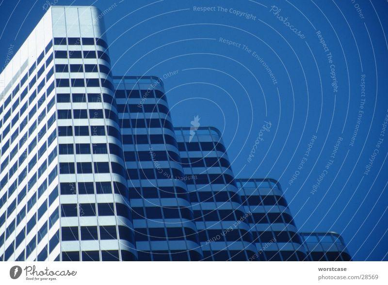 Hochhausfassade Himmel blau Architektur Fassade diagonal San Francisco