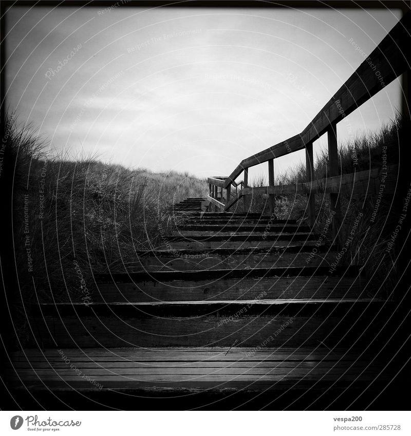 stairway to beach II Natur alt Strand Landschaft dunkel Küste Wind wandern Insel bedrohlich Nordsee