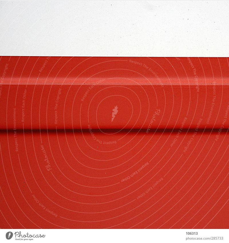 6 6 6 Sammlerstück rot weiß Freiraum Schatten graphisch Linie rot-weiß Schranke Signal Farbfoto
