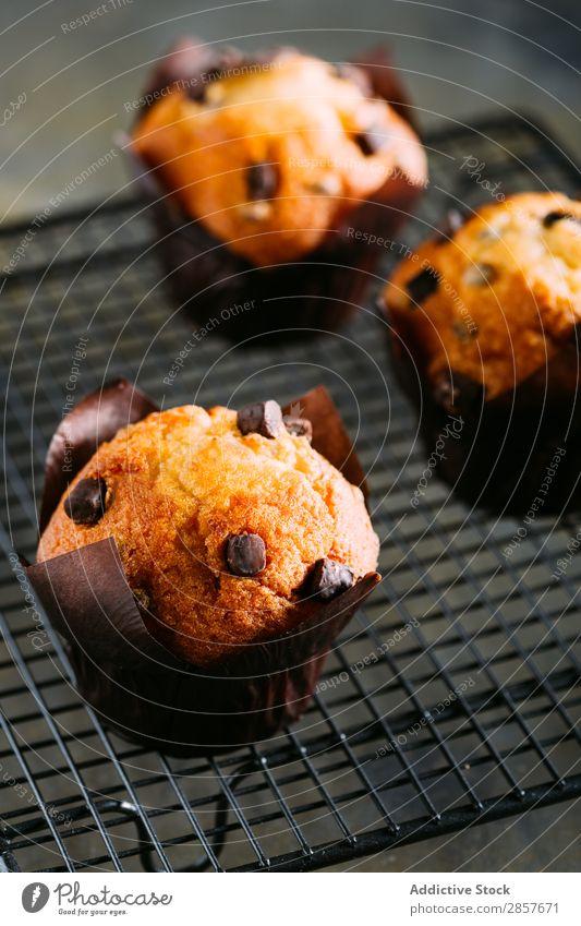 Schokoladen-Muffins backen Buch Frühstück Kuchen Kakao Cupcake Dessert Lebensmittel handmande gebastelt Serviette rustikal süß