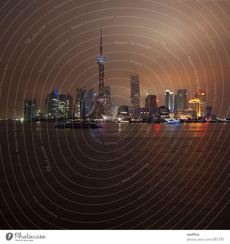 Around the World | Shanghai Stadt hoch Hochhaus Skyline China gigantisch Nachtaufnahme Pu Dong