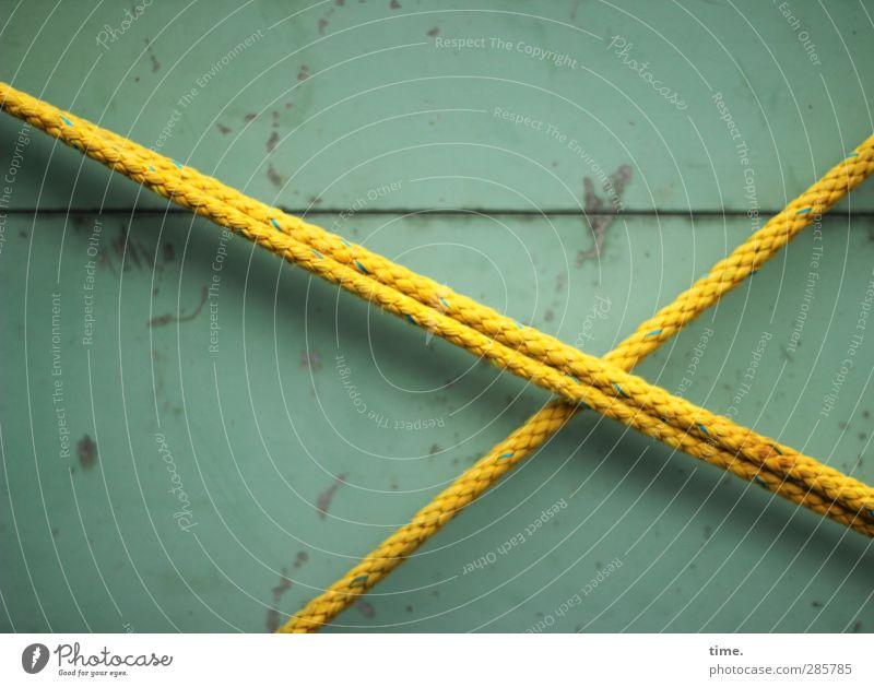 kreuzweise Metall Kraft Seil Sicherheit Kunststoff Konzentration Zusammenhalt Schifffahrt Teamwork trashig Partnerschaft Erwartung Versicherung Originalität