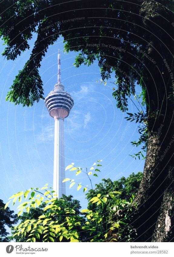 Menara Kuala Lumpur Gebäude Architektur Niveau Turm Spitze Fernsehturm Malaysia Kuala Lumpur