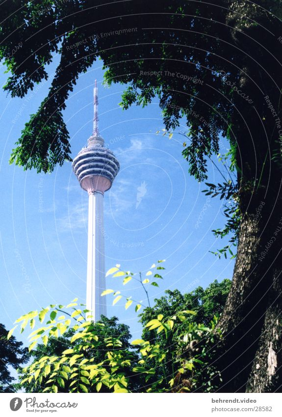 Menara Kuala Lumpur Gebäude Architektur Niveau Turm Spitze Fernsehturm Malaysia