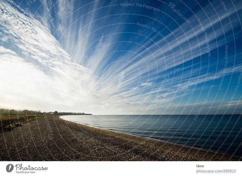 strahlend Himmel Natur blau Ferien & Urlaub & Reisen Wasser Meer Strand Wolken Landschaft Erholung Umwelt Herbst Küste Sand Luft Horizont