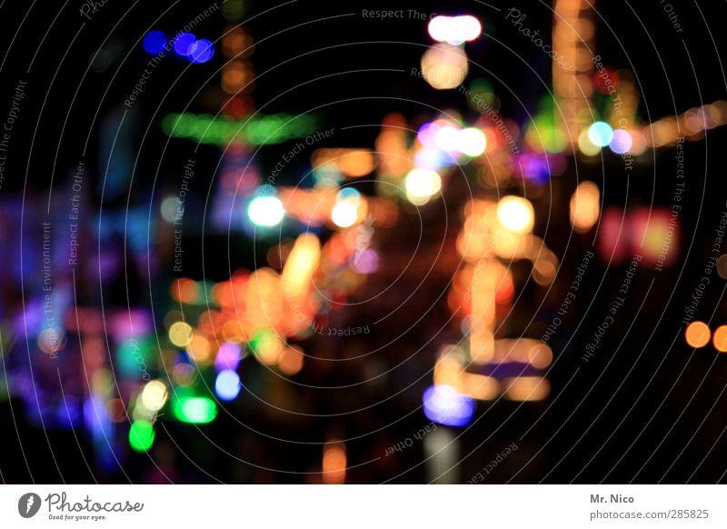 UT Köln   7 tage 7 nächte blau grün Stadt gelb Feste & Feiern glänzend Energie leuchten Jahrmarkt Neonlicht Oktoberfest Buden u. Stände Lichtpunkt Nachtleben