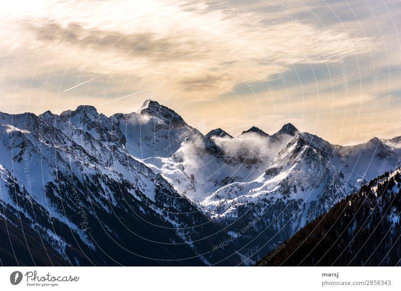 Föhnsturm am Hochgolling Berge u. Gebirge Ferien & Urlaub & Reisen Ausflug Natur Landschaft Winter Schönes Wetter Wind Alpen Gipfel Einsamkeit Ferne Wolken