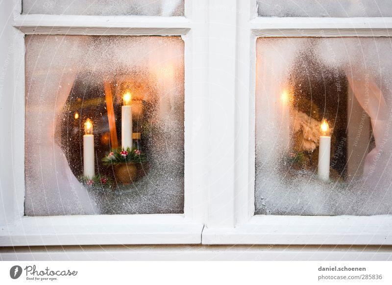 Einfachverglasung Weihnachten & Advent Fenster Wärme hell Raum Dekoration & Verzierung Kerze Kitsch Vorfreude Krimskrams