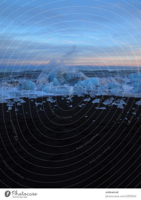 Am Rand des Polarkreis Himmel Natur blau Ferien & Urlaub & Reisen Meer Strand Winter Ferne Umwelt Küste Freiheit Sand Horizont Eis Wetter Wellen