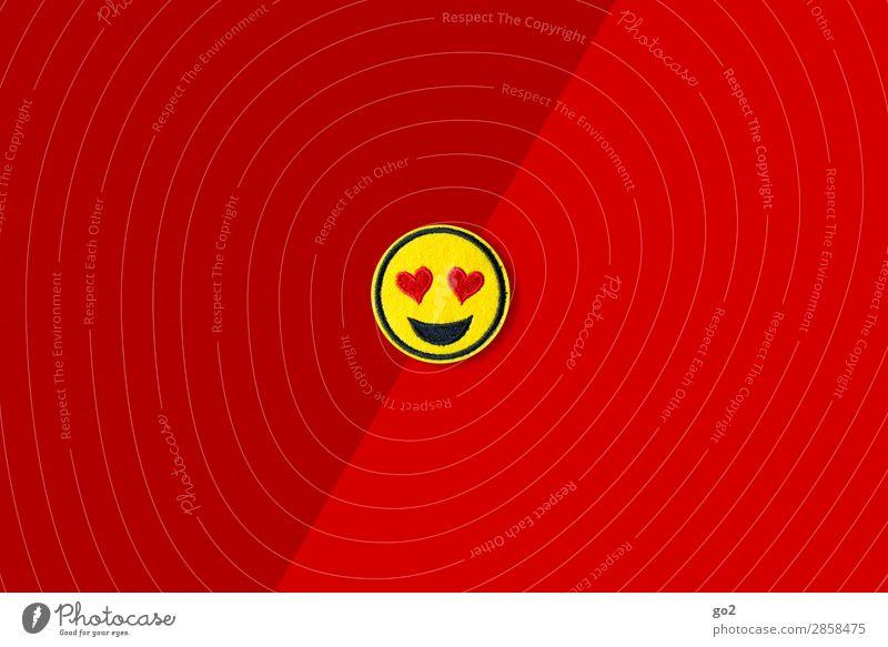 Heart Eyes Emoji Flirten Valentinstag Hochzeit Geburtstag Zeichen Herz lachen ästhetisch Fröhlichkeit Glück gelb rot Gefühle Freude Lebensfreude