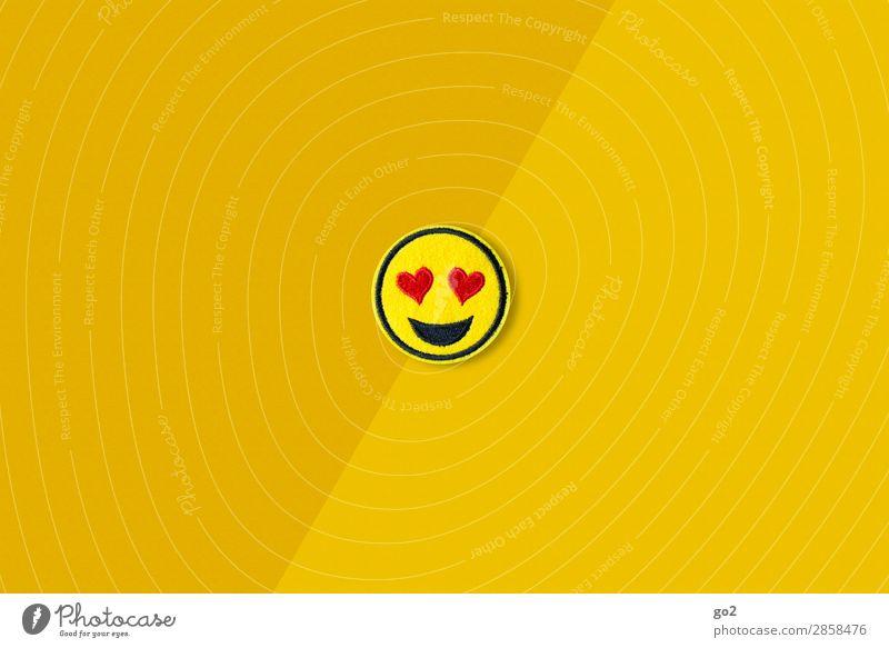 Heart Eyes Emoji Flirten Valentinstag Hochzeit Geburtstag Zeichen Herz ästhetisch Fröhlichkeit lustig gelb Gefühle Freude Glück Lebensfreude Frühlingsgefühle
