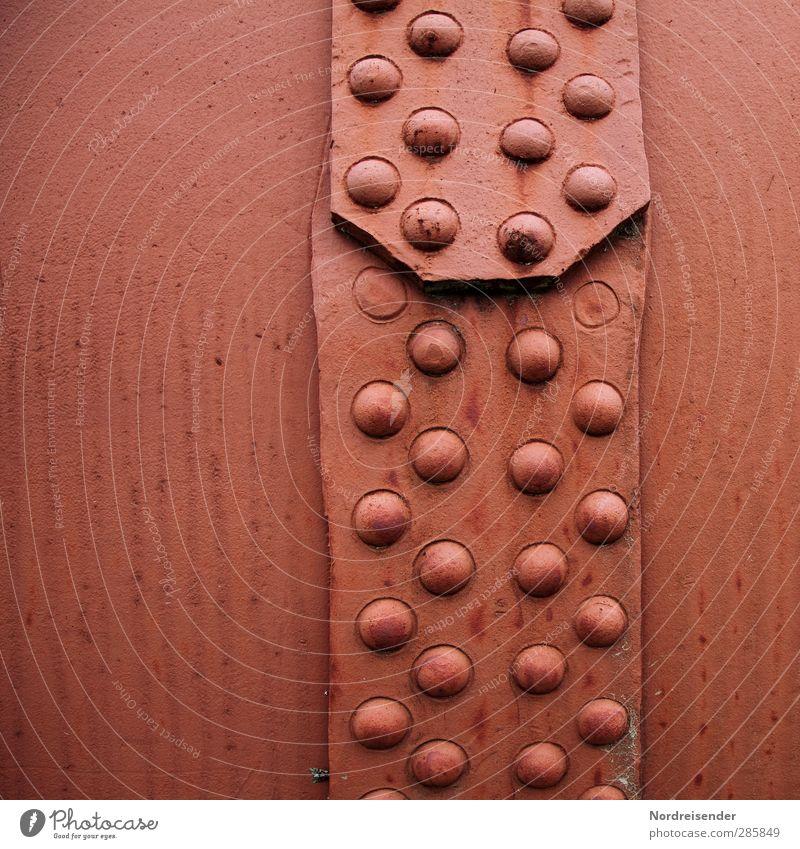 Beklemmung.... Arbeit & Erwerbstätigkeit Industrie Maschine Metall Stahl rot Akzeptanz Angst Kraft Niete Stahlverarbeitung Kessel beklemmend bewegungslos schwer