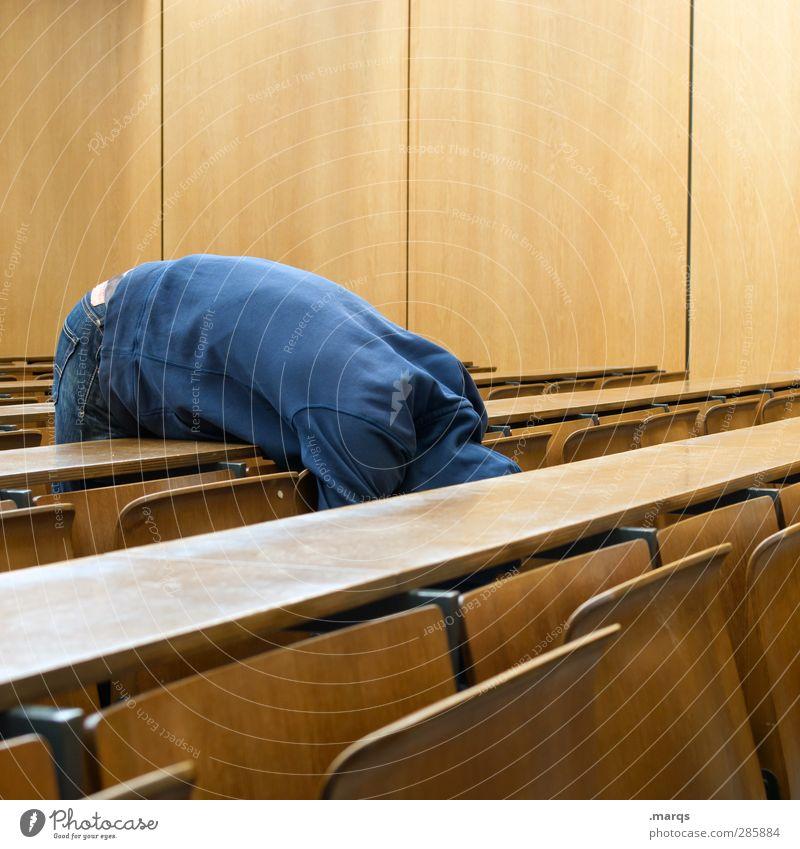 Pause Mensch Jugendliche Erholung Erwachsene Junger Mann 18-30 Jahre außergewöhnlich maskulin lernen Studium schlafen Suche Zeichen Bildung Student