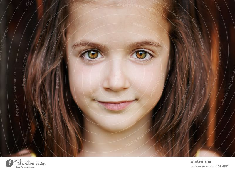 Kind schön Mädchen Gesicht Auge Kindheit Fröhlichkeit 3-8 Jahre