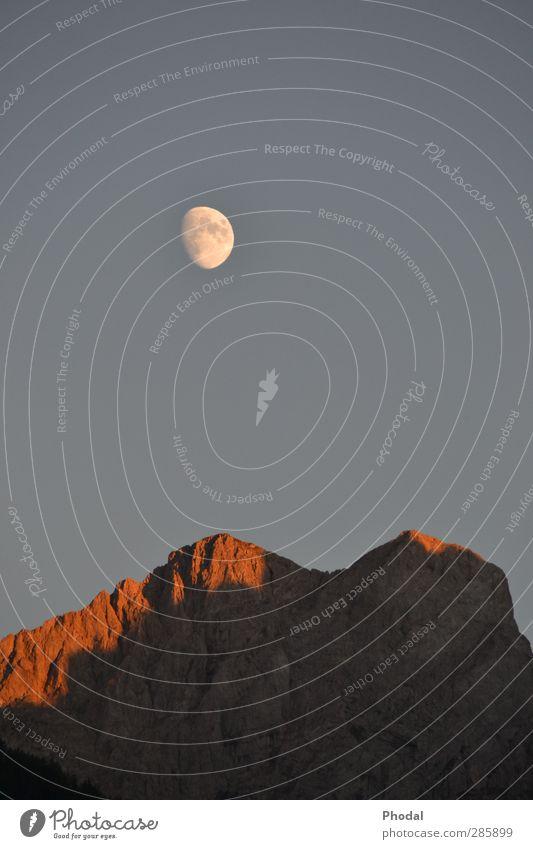 Moonlight Himmel Natur Sommer Landschaft Berge u. Gebirge Wetter Idylle Schönes Wetter Mond