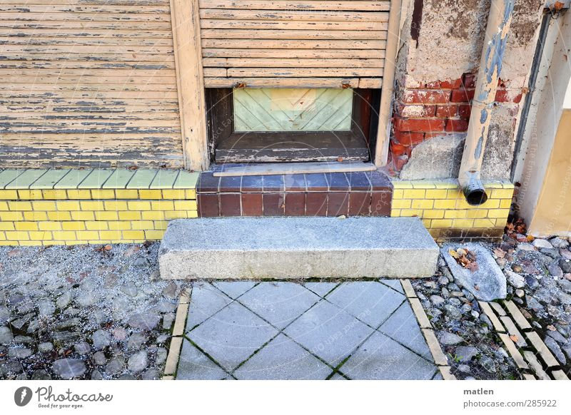 Brandenburg Kleinstadt Altstadt Fußgängerzone Haus Mauer Wand Treppe Fassade Tür Stein Holz mehrfarbig Fliesen u. Kacheln Ladengeschäft Stufe Fallrohr Ziegel