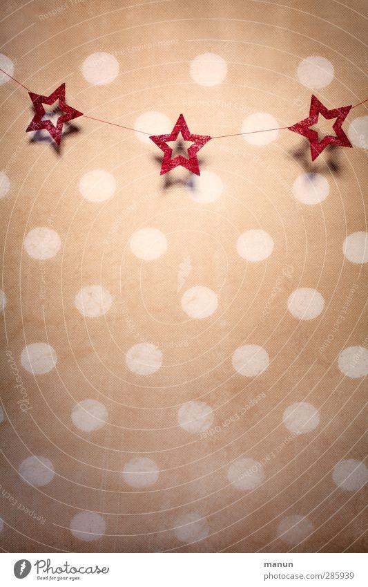 stars and dots Weihnachten & Advent Innenarchitektur Feste & Feiern Wohnung Dekoration & Verzierung Stern (Symbol) Zeichen Kitsch Tapete Vorfreude Weihnachtsdekoration Weihnachtsstern Krimskrams