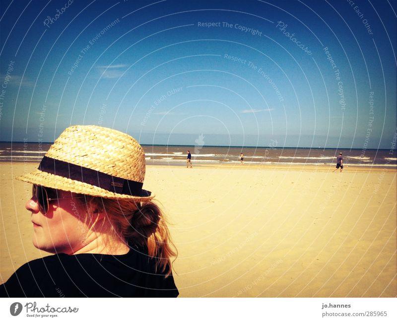 strand Ferien & Urlaub & Reisen Ausflug Sommer Sommerurlaub Strand Meer Wellen feminin Junge Frau Jugendliche Kopf 1 Mensch 18-30 Jahre Erwachsene Erholung