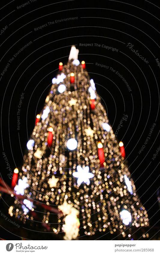 ^ elegant Stil Winter Feste & Feiern Weihnachten & Advent Nachthimmel Baum Stadt Stadtzentrum Sehenswürdigkeit Dekoration & Verzierung Kerze Kitsch Krimskrams