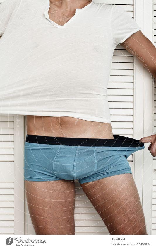 SPLIT Flirten Sportler Erfolg Mensch maskulin Junger Mann Jugendliche Erwachsene Leben Körper 1 18-30 Jahre 30-45 Jahre T-Shirt Unterwäsche gebrauchen berühren