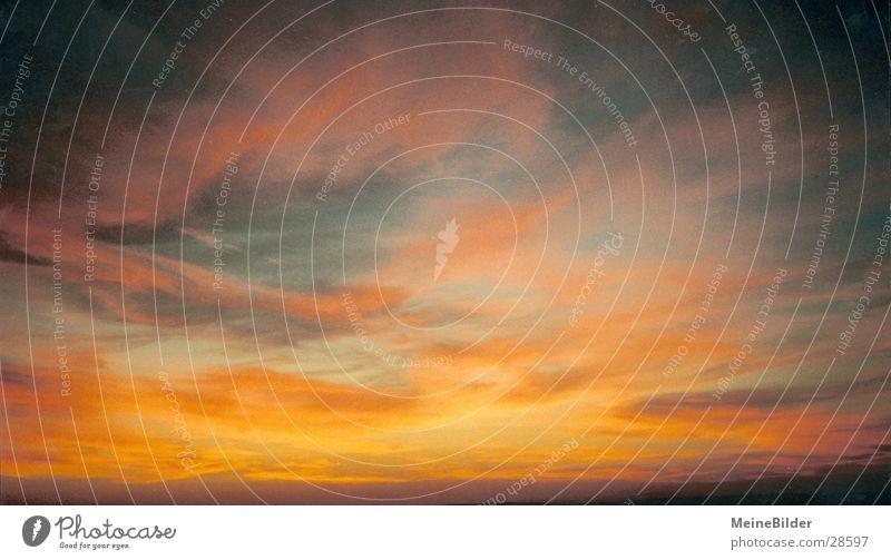 Wolkenstreifen2 Sonnenuntergang Hoffnung Stimmung beruhigend Denken Berge u. Gebirge