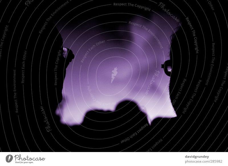 Fireworks Mensch Farbe Freude dunkel Gesicht Kopf Neugier violett Veranstaltung Interesse Nachtleben Feste & Feiern