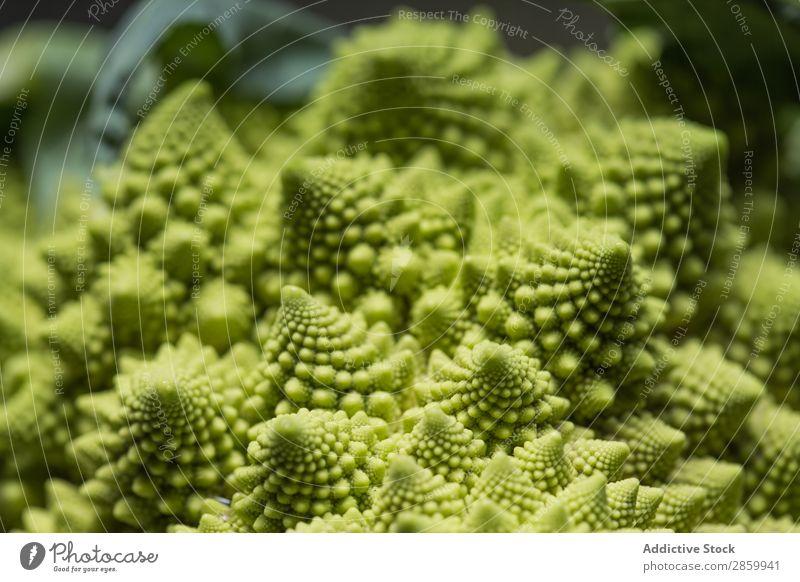 Romanesco Blumenkohl Hintergrundbild Gemüsekohl Brokkoli Brokkoli Romanesco Fibonacci Lebensmittel fraktal frisch grün Ernte Gesundheit Romanesco Brokkoli