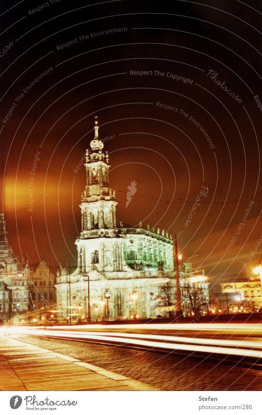 Tradition Hofkirche Dresden Nacht Langzeitbelichtung Night Religion & Glaube