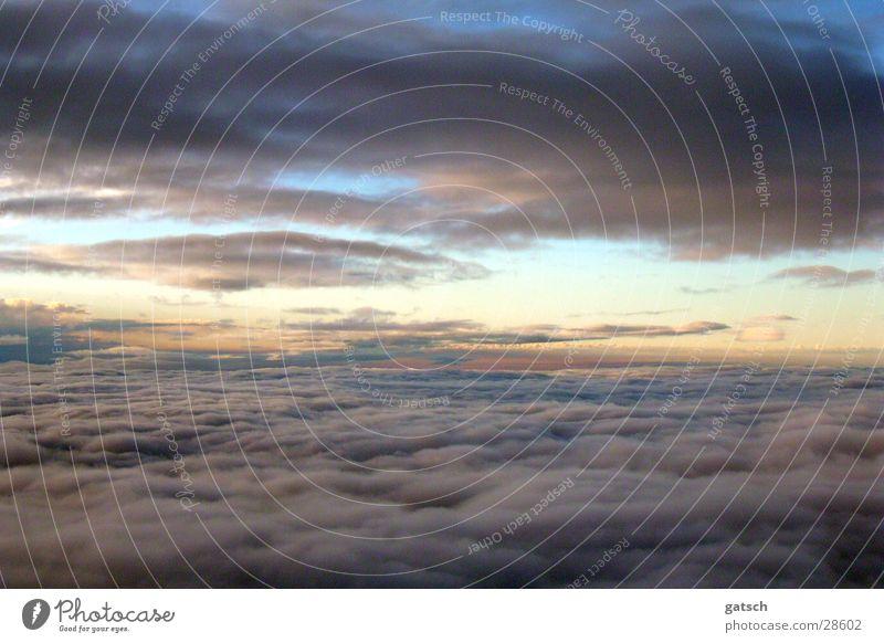 Wolken Stimmung Flugzeug Himmel Sonne fliegen