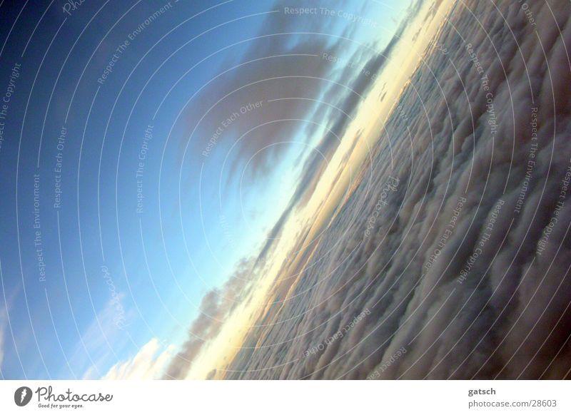 Clouds Wolken Panorama (Aussicht) Flugzeug Himmel blau groß
