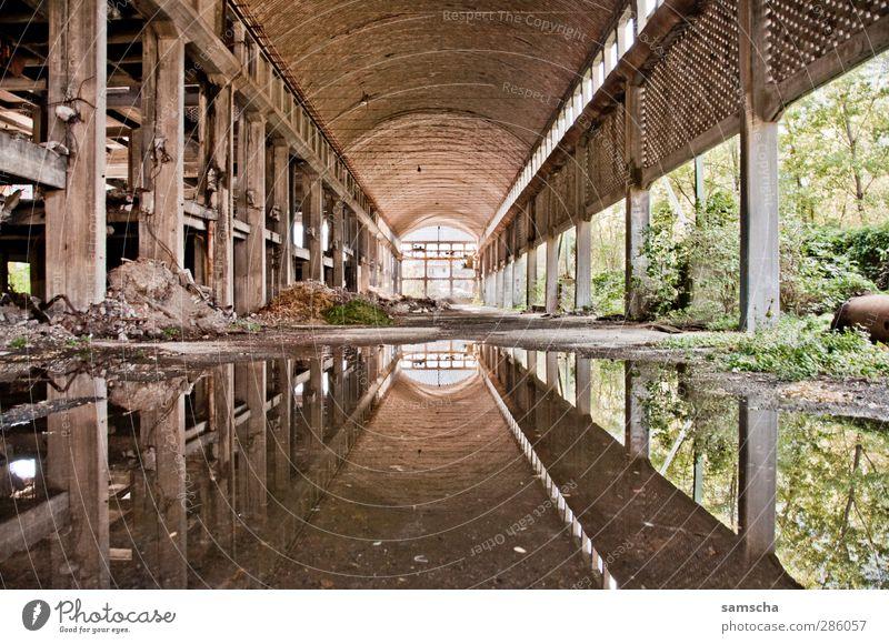 spieglein spieglein... Fabrik Industrie Industrieanlage Ruine Bauwerk Gebäude Mauer Wand alt kaputt Fabrikhalle industriell Industriegelände Industrieruine
