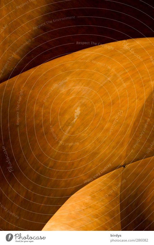 Wege des Lichts schön Farbe gelb Architektur außergewöhnlich orange elegant Design ästhetisch rund Kreativität fantastisch malerisch Geometrie Gewölbe Gewölbebogen