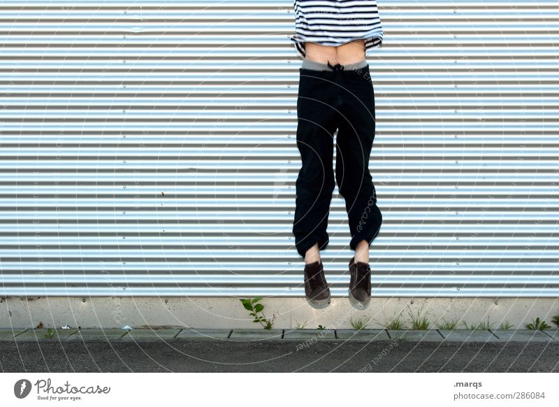 Ignition Mensch Jugendliche Freude Erwachsene Junger Mann Glück Stil springen 18-30 Jahre Linie außergewöhnlich fliegen Fassade maskulin Erfolg Beginn