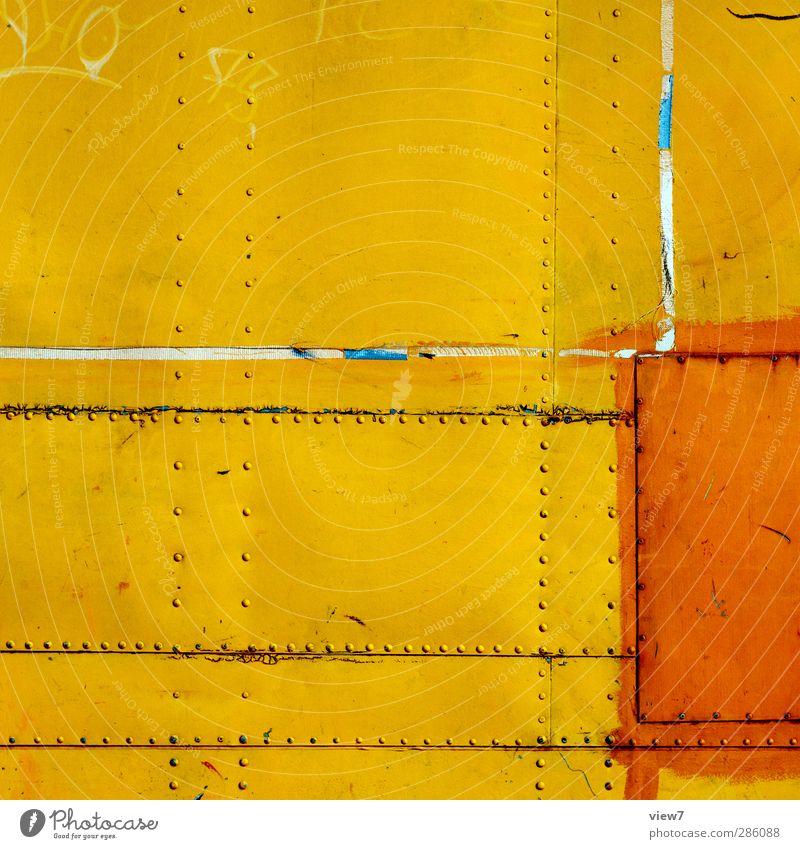 Farbe _ Start Part II alt Stadt gelb Innenarchitektur orange Raum glänzend dreckig Häusliches Leben verrückt Fröhlichkeit leuchten Coolness Technik & Technologie Baustelle berühren