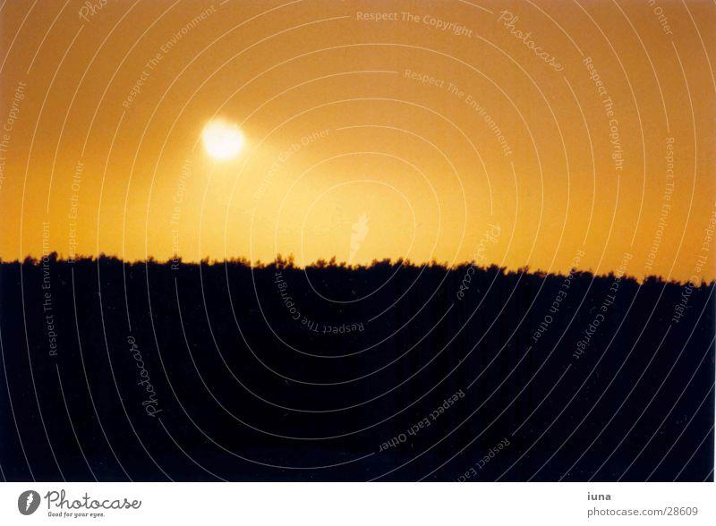 Sonnenuntergang Himmel Meer Ferien & Urlaub & Reisen Wärme Landschaft Stimmung orange Horizont Romantik Physik Abenddämmerung Kroatien