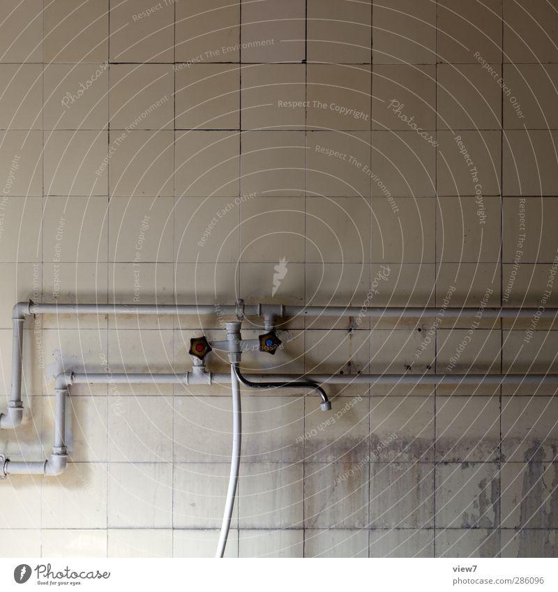 241179_ alt Einsamkeit gelb grau Wohnung Fassade dreckig authentisch kaputt trist Baustelle Vergänglichkeit Bad Küche fest Umzug (Wohnungswechsel)