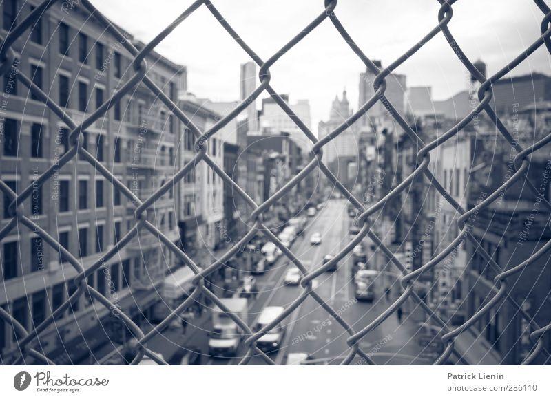 New York, I Love You But You're Bringing Me Down Stadt Haus modern Tourismus Hochhaus Lifestyle Perspektive Abenteuer kaufen Brücke Vergänglichkeit Netzwerk Kreativität Güterverkehr & Logistik USA geheimnisvoll