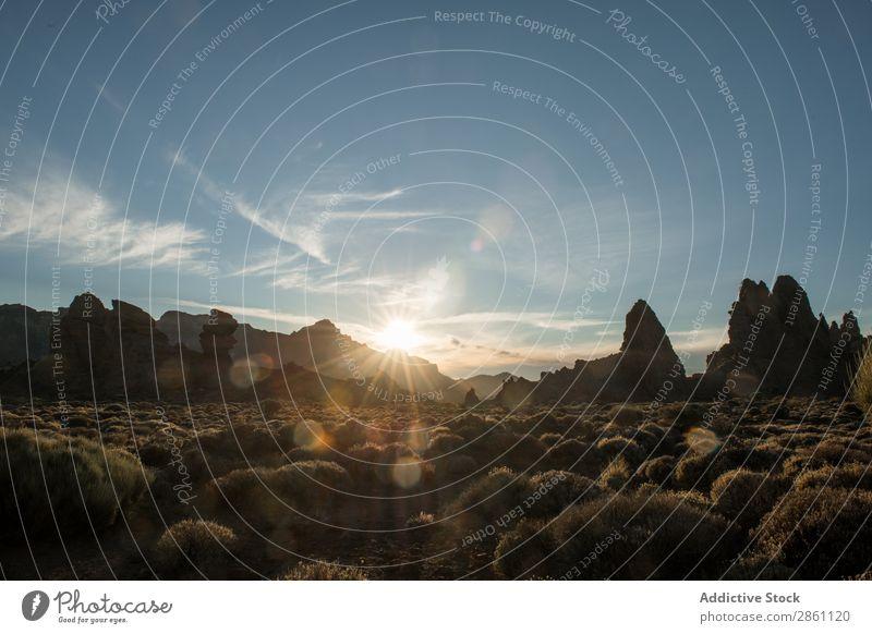 Trockenes Land und Hügel Natur Ferien & Urlaub & Reisen Landschaft Wüste Abend Tourismus wandern Sand Berge u. Gebirge schön Abenteuer wild Jahreszeiten
