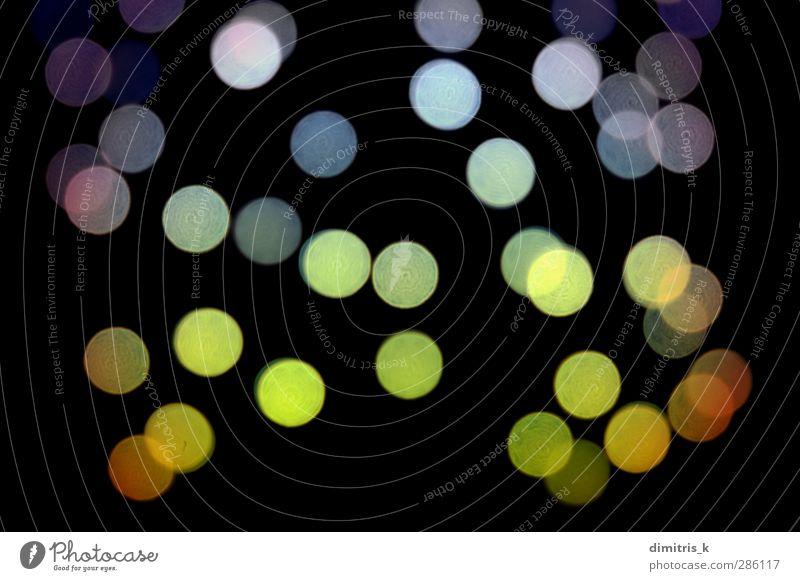 Punktmuster bei Nacht Design Dekoration & Verzierung dunkel hell schwarz Farbe Kreativität Fokus künstlerisch glänzend festlich Dunst Einfluss saisonbedingt