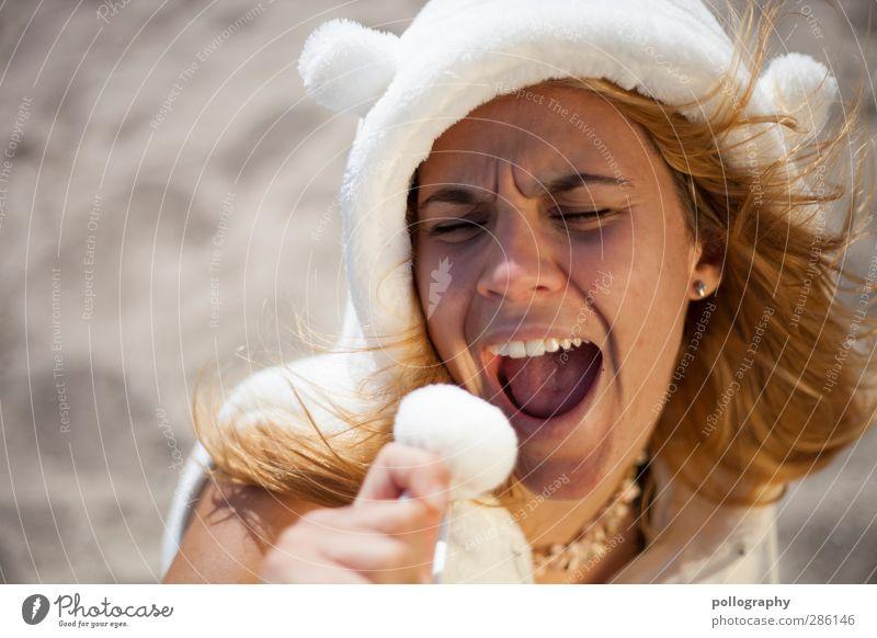 sandgirl (II) schön Sommerurlaub Sonnenbad Strand Mensch feminin Junge Frau Jugendliche Erwachsene Leben 1 18-30 Jahre Erde Sand Schönes Wetter Kapuze
