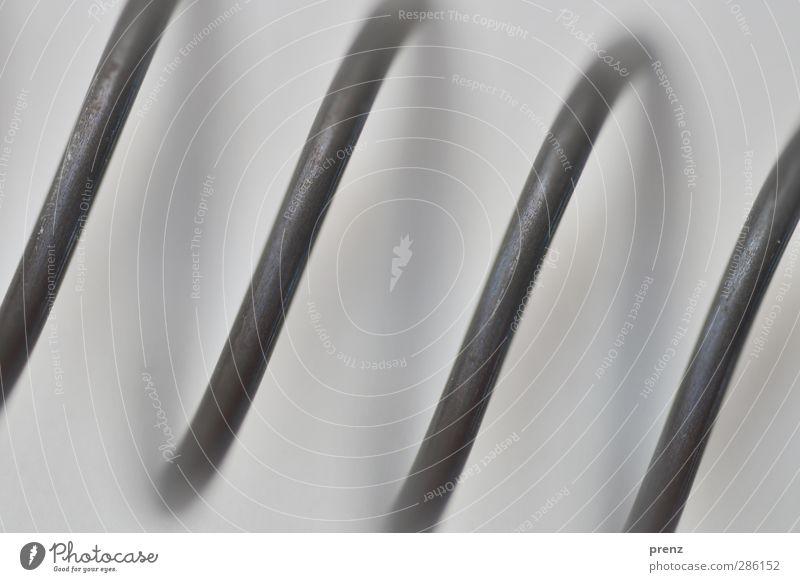 makro Technik & Technologie Metall Stahl Linie Streifen grau schwarz Neigung Metallfeder Farbfoto Außenaufnahme Nahaufnahme Detailaufnahme Makroaufnahme